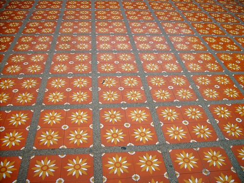 Thailand 13 flower tiles