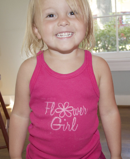 sassy in flower girl shirt