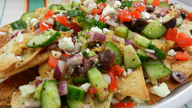 Greek Nachos Recipe — Dishmaps