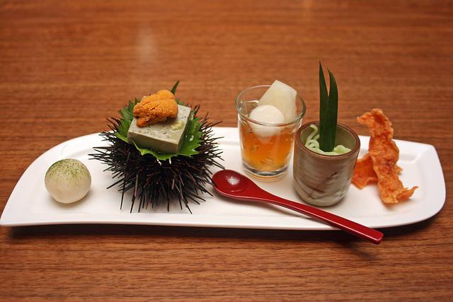 Keyaki appetisers