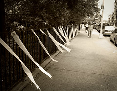 (atelier-ying) Tags: street new nyc newyorkcity blackandwhite bw ny memorial chinatown candid 911 highcontrast worth september11 ricoh chathamsquare mulberry pennants mulberryst worthst grd3 911victims grdigital3