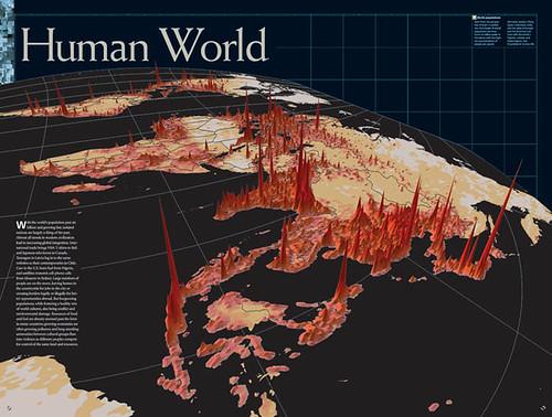 carte de la densité de la population dans le monde
