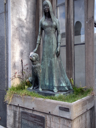 Liliana Crociati Szaszak and Sabú at Recoleta Cemetery