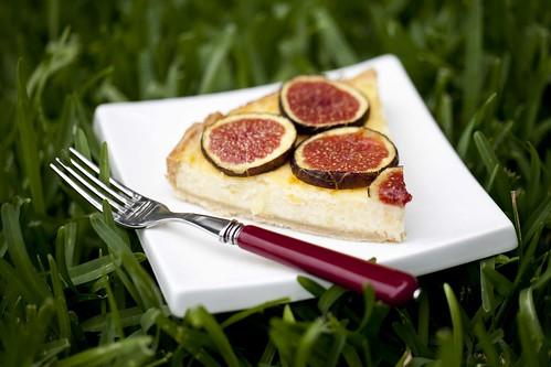 Pastís de formatge maonès amb figues 3