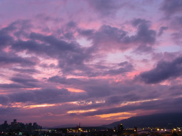 purple vancouver sunset