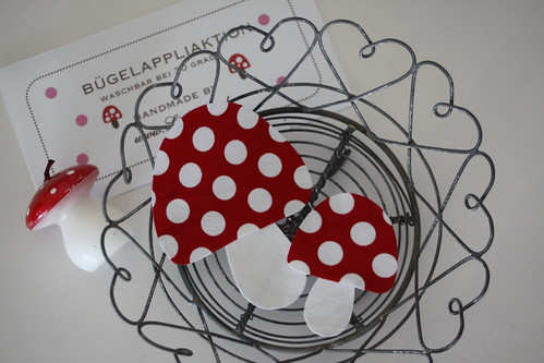 Dotted mushrooms for fall by sewingamelie by liebesgut