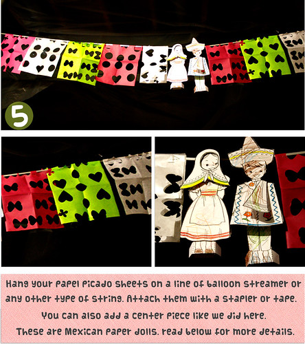 steps 5 for papel picado