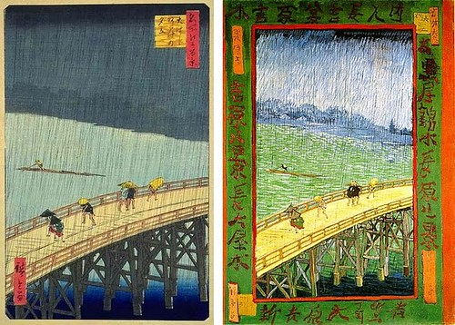 HIROSHIGE AND VAN GOGH: BRIDGE IMAGES by roberthuffstutter