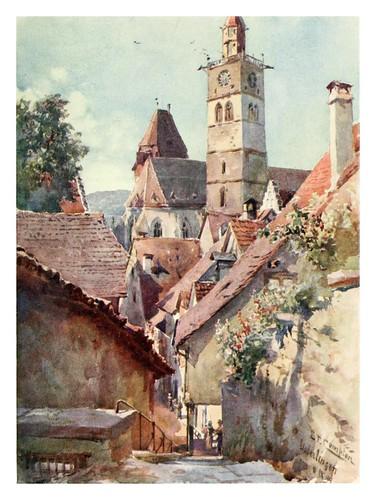 003-Ueberlingen en el lago de Constanza-Germany-1912- Edward y Theodore Compton ilustradores