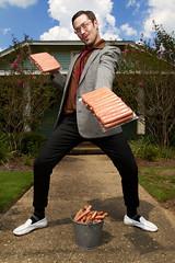 Hot Dogs Door-to-Door (matthewcoughlin) Tags: canon 7d hotdogs westcott softbox creep salesman photoflex strobist creepydude 430exii budberma
