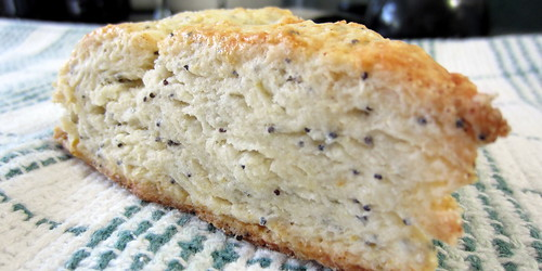 lemon poppy seed scones |