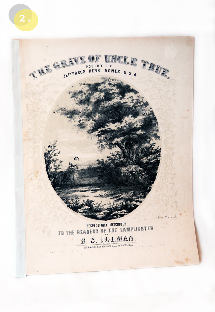 Antique Pre-Civil War Sheet Music