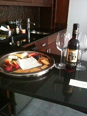 Complementary Wine & Cheese