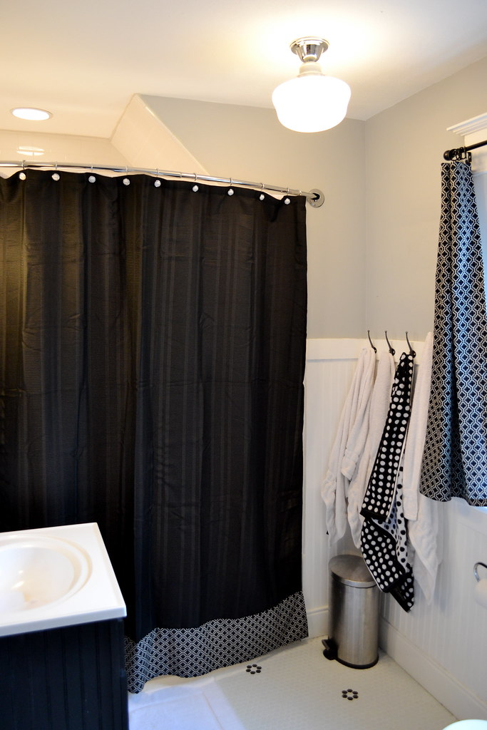 Exceptional To Tie The Curtains Into The Room A Little More, I Also Added A Really  Simple Strip To The Shower Curtain, Which Wasnu0027t Long Enough Anyhow Since  We Hung It ...