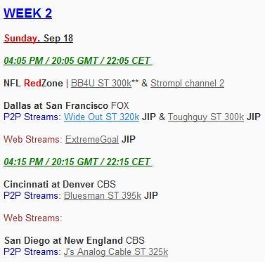 Live NFL Football online