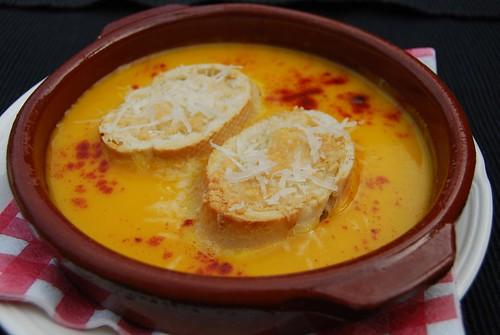 pompoensoep met kaas