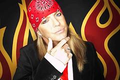 bret micahels red bandana flames drollgirl