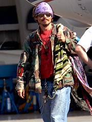 Johnny Depp purple bandana drollgirl
