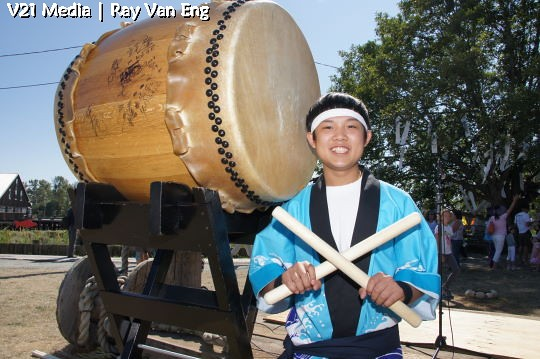 Tako Drummer, The Richmond Maritime Festival 2011 at the Britannia Heritage Shipyard in Steveston, BC