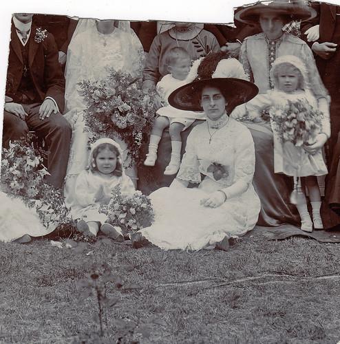Wedding photo fragment. 1900s