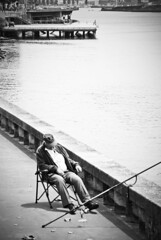The sleepy fisherman (Maríon) Tags: sea fish water fishing harbour sleep relaxing porto fisher portugla supermarion marionnesje
