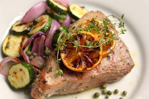 Grilled Tuna Steaks With Grape And Caper Salsa Recipes — Dishmaps