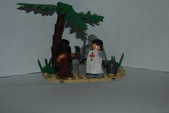 Crusades Duel (TheCrimsonTrooper) Tags: lego brickarms brickforge mmcb