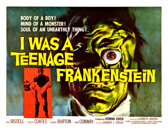 Albert Kallis - I was a Teenage Frankenstein (American International, 1957) Half Sheet