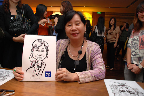 caricature live sketching for Royal Caribbean International Dinner and Dance 2011 - 7