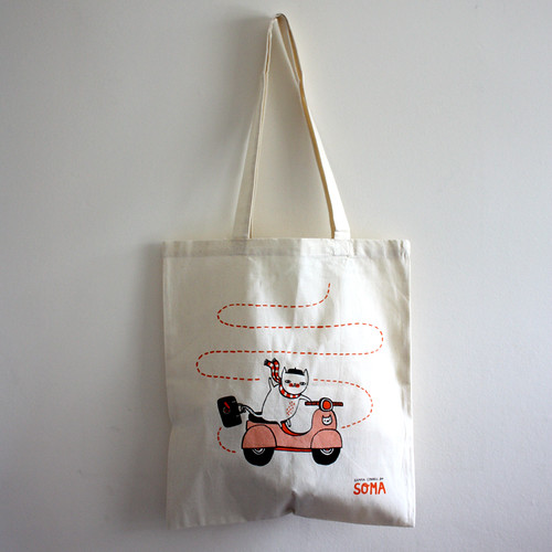 'Au Revoir' tote by Gemma Correll for Soma