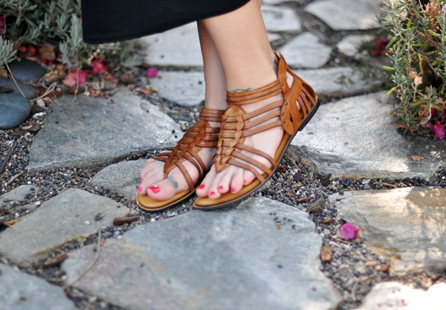 DVF shoes+brown sandals