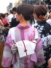 Evening Walk (love_child_kyoto) Tags: travel people evening earthquake kyoto walk  yukata kimono   tanabata kamogawa   kamoriver     helptohoku