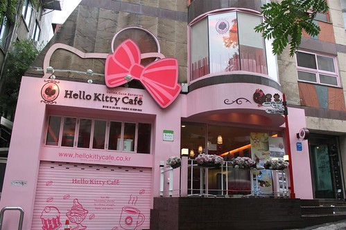 Hello Kitty Cafe  outlet in Seoul South Korea