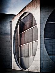 0 (miemo) Tags: city travel summer building berlin architecture facade germany circle concrete europe exterior olympus ep1 marieelisabethldershaus