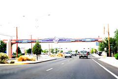 Route 66, Albuquerque (talesfromtheplain) Tags: usa newmexico america albuquerque roadtrip oldtown picnik