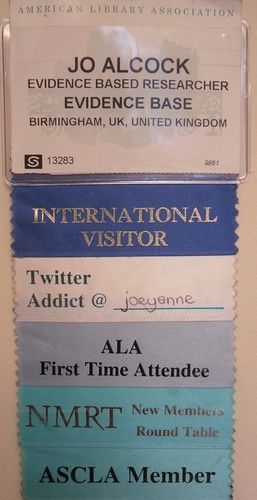 ALA badge with ribbons by joeyanne, on Flickr
