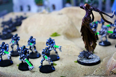 Necrons- Warhammer 40K (Mey Pinkuberry) Tags: game miniature war aliens robots zombies strategy humans tanks mechas warhammer40k ogres
