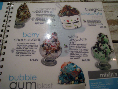 menu ice cream 1