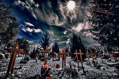 And the sun still shines... (Salvatore Motsu) Tags: grave graveyard cross cemetary krnten carinthia hdr