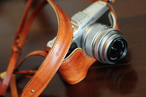 Olympus E-P3 vintage camera case