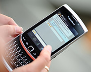 BlackBerry 9810 includes both the classic keyboard and a full touch screen.