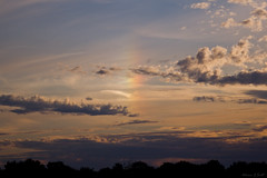 Sun Dog Banstead Downs (AdrianJScott) Tags: silhouette evening skies surrey sundog bansteaddowns