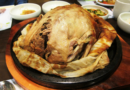 Korean Clay Roasted Duck at Dha Rae Oak
