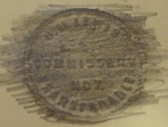 Lewis Commissary reverse rubbing