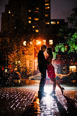 When it Rains it Snows (Ryan Brenizer) Tags: nyc wedding woman man love engagement nikon flash romance kipsbay strobist sb900 35mmf14g d3s