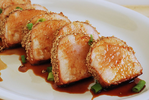 6067217593 d49920c5c2 Secret Recipe Club   Honey Sesame Pork Loin