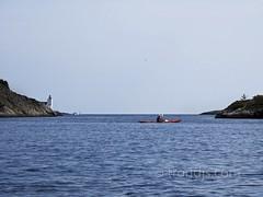 Homborsund, Norway - Day 215/365 (trondjs) Tags: sea summer lighthouse oneaday norway canon boats photography norge photo seaside raw photoaday fyr sørlandet photog pictureaday homborsund g11 kajakk grimstad 2011 cayak austagder project365 norgenorway trondjs project365215 homborsundfyr project365080311 project36503aug11
