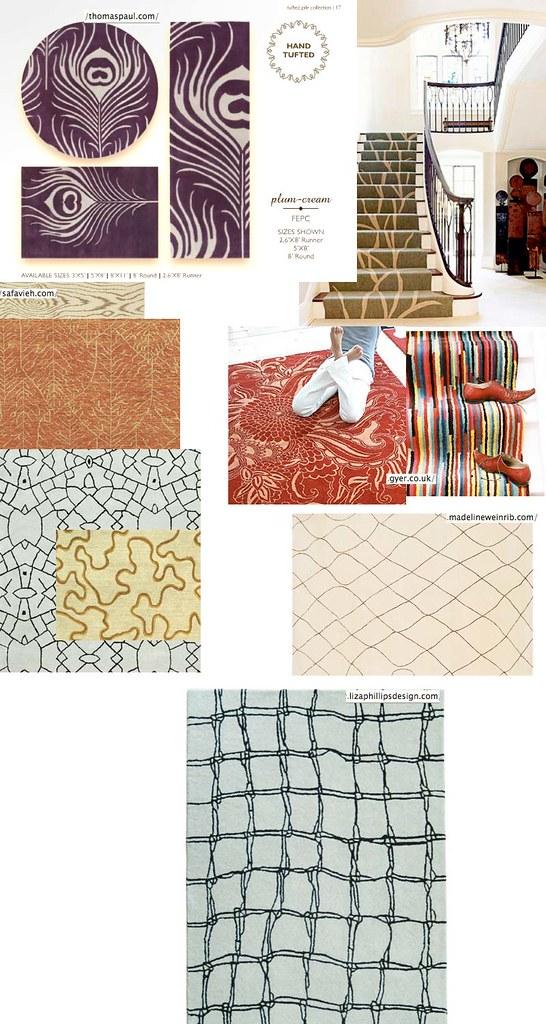 Carpet ideas - stair runner and upstairs hallway