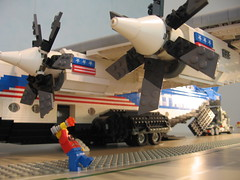 Engine details / Maintenance engineer checking the huge turboprop engines... (Buff83ST) Tags: scale truck giant de big airport ramp lego aircraft aviation air transport large machine patriotic cargo semi creation turbo american engines huge beast trailer minifig minifigs gigantic patriotism heavy fret steffen heavyweight wingspan weight freight own prop avion industries turboprop aerospace airfield freighter alliance c4 moc callsign kaai frachter engined largescale 14wide minifigscale frt masstab 4engined amtrans frachtflugzeug kasteleiner