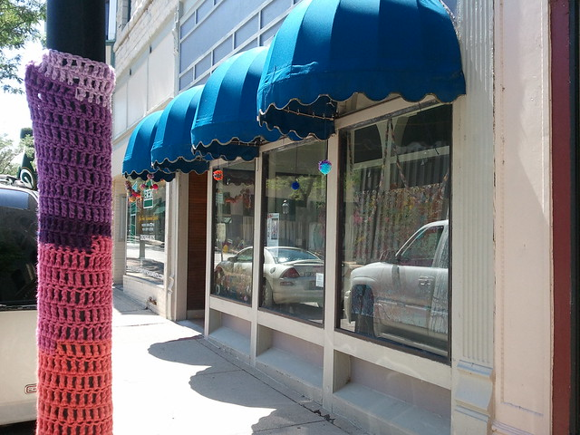 Wvap yarn bomb downtown waukesha